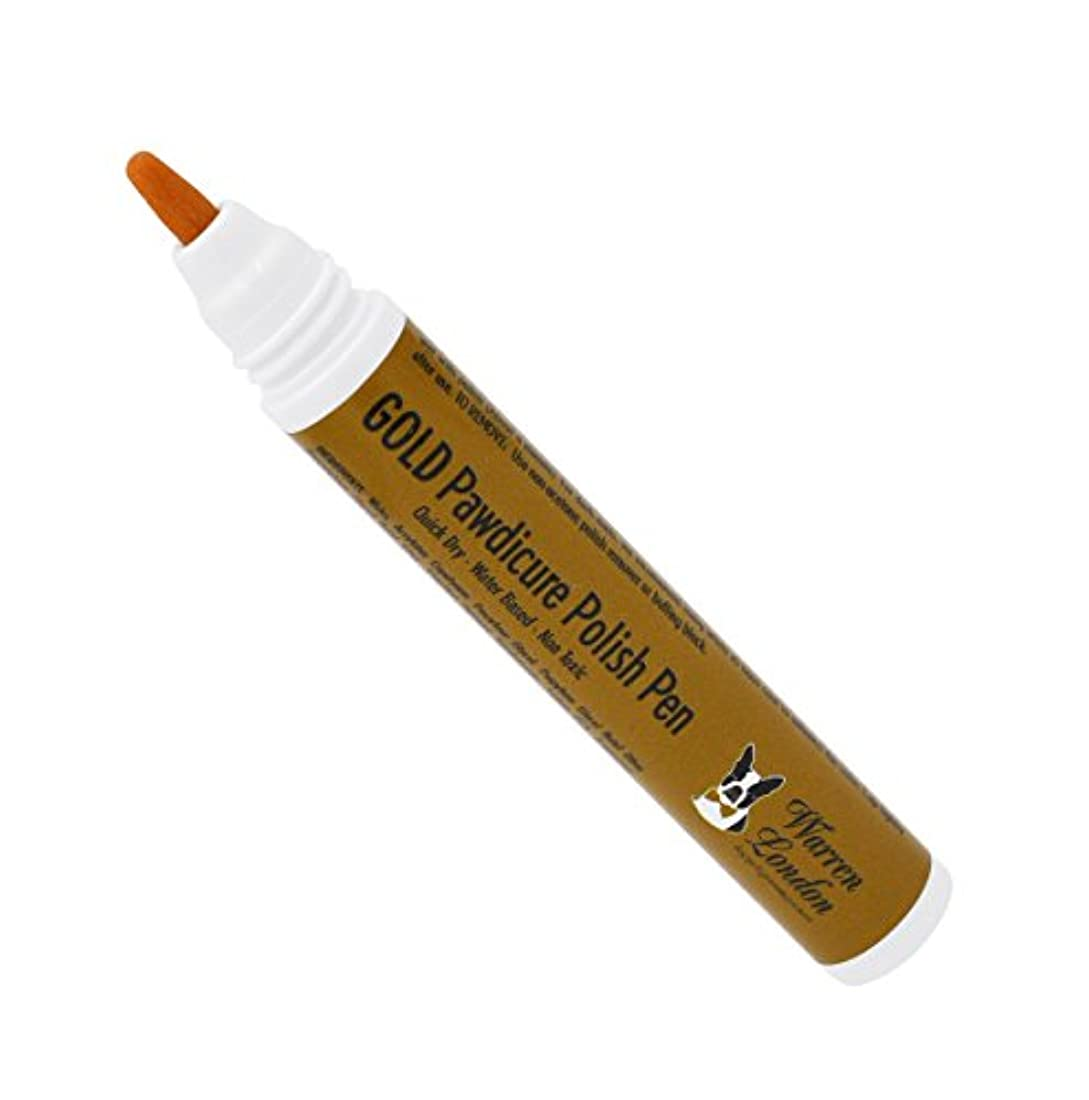 荒らす信条野球Warren London Pawdicure Polish Pen for Dogs, Gold by Warren London