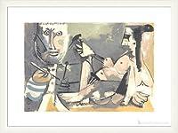 ポスター パブロ ピカソ The Artist and His Model 1991年 額装品 ウッドベーシックフレーム(ホワイト)