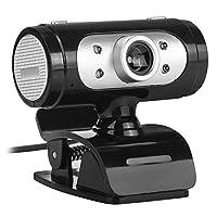ウェブカメラ 720P 12MP 回転式クリップオンカメラ マイク& LEDライト付き PC/ラップトップコンピュータ用 2wg3dh7xl7fn9xx8D02
