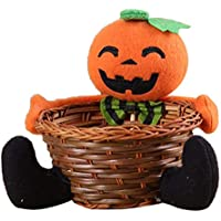 IPOTCH ハロウィーン 収納 バスケット 可愛い 収納かご 装飾的 全5種    - かぼちゃ