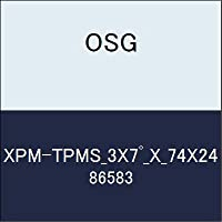 OSG テーパエンドミル XPM-TPMS_3X7゚_X_74X24 商品番号 86583