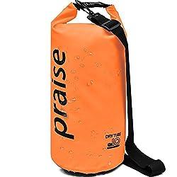 praise(プレイズ) ドライバッグ 防水バッグ ドライバッグ 防水ケース ラフティング マリンスポーツ 海水浴 10L オレンジ