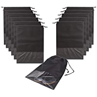 12PCS Travel Shoe Bags Non-Woven Storage with Rope for Men and Women Large Shoes Pouch Packing Organizers