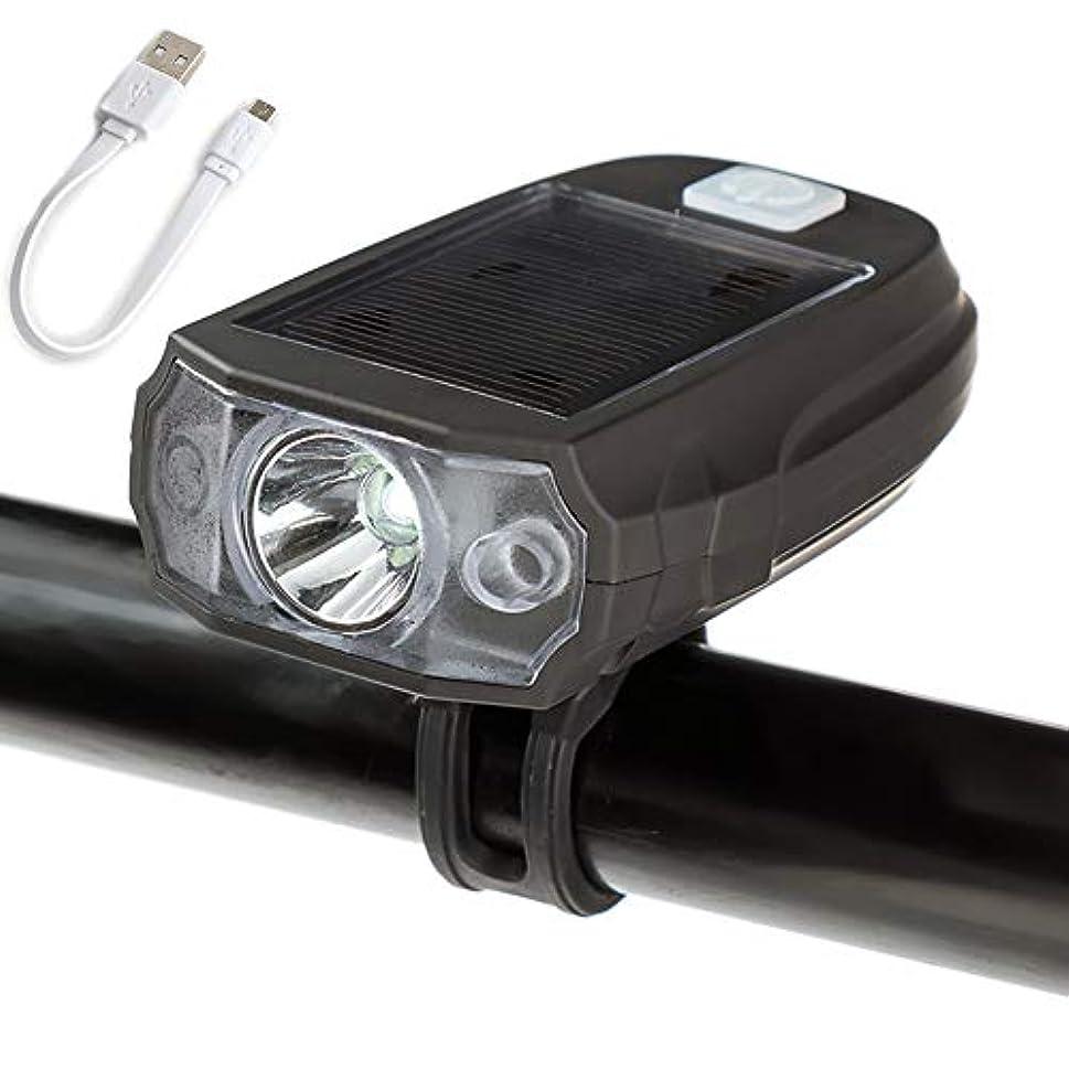 ディレイ言う地図USB充電式自転車ライト、 600ルーメン 太陽防水自転車のヘッドライト ロードマウンテン通勤自転車用