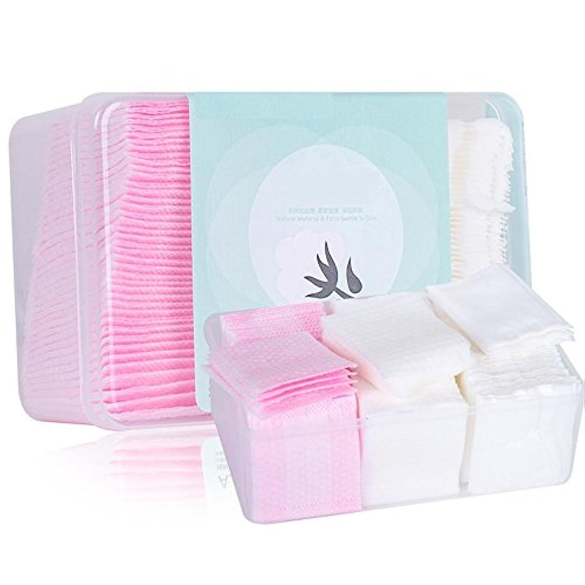 仮定霜イデオロギーAorunji 柔らかい 3 in 1ソフトリントフリーコットンパッド(アイメイク用リムーバー)Cosmetic Cotton(Appr.320pcs)