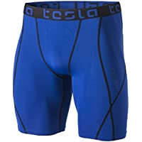 Tesla Men's Compression Shorts Baselayer Cool Dry Sports Tights MUS17