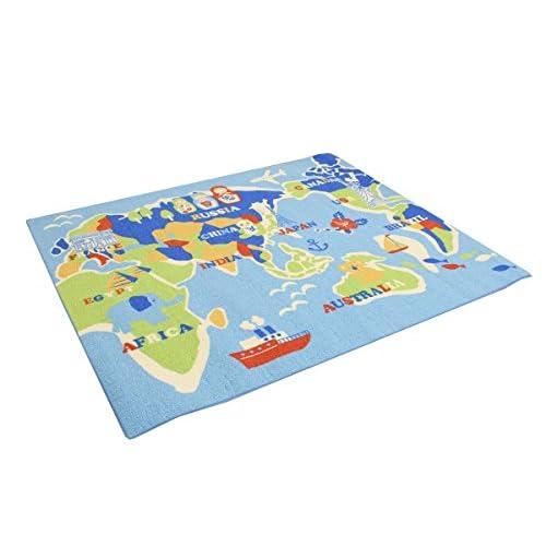 デスクカーペット「 ワールド 」【IT】(#9800820) 約110×133cm