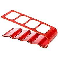 【ノーブランド 品】リモートコントロール用 ボックス リモコンラック 収納 4格 - レッド