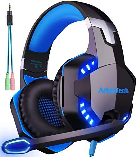 ARKARTECH G2000 ゲーミング ヘッドセット ヘッドホン ヘッドフォン マイク付き ゲーム用 高音質 有線 5.1c...
