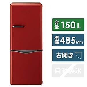 DAEWOO 150L 2ドア冷蔵庫(レッド)【右開き】ダイウ DR-C15AR