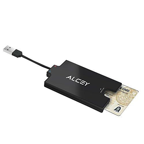 Alcey CAD&DOD USBスマートカードリーダー。3.2インチケーブル付。SIMカード、SD...