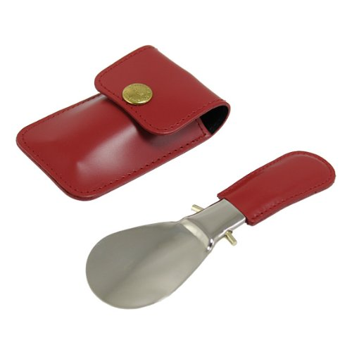 (エッティンガー) ETTINGER 靴べら レッド BRIDLE HIDE COLLECTION TRAVEL SHOEHORN IN POUCH BH298AJR RED 並行輸入品
