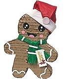 APINATA4U ジンジャーブレッドマン ピニャータ サンタハットとグリーンスカーフ クリスマステーマパーティー用