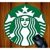 【スターバックス キーホルダー付】海外限定品 スターバックス マウスパッド 直径20cm 新ロゴ 並行輸入品
