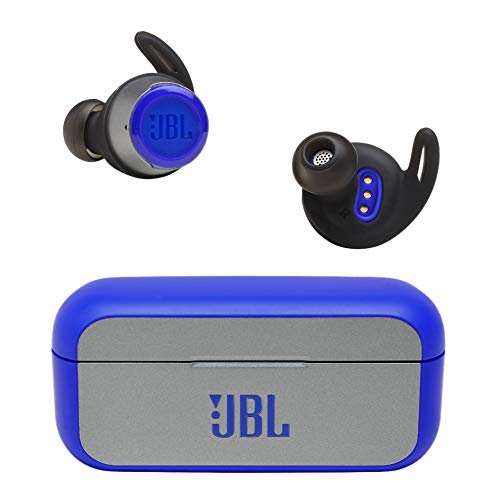 JBL REFLECT FLOW 完全ワイヤレスイヤホン 連続約10時間再生/IPX7防水/Bluetooth対応/トークスルー機能搭載 ブルー JBLREFFLOWBLU【国内正規品/メーカー1年保証付き】