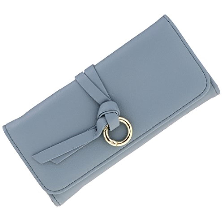Prettyia ウォレット 二つ折り財布 カード 写真 小銭入れ レディース 皮革 柔軟 高品質 多機能 ギフト 全5色