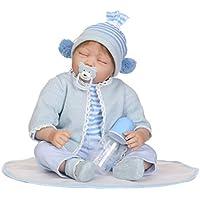 KESOTO 55cm シリコーン 眠っている リボーンドール 衣装付き かわいい 赤ちゃんお世話セット
