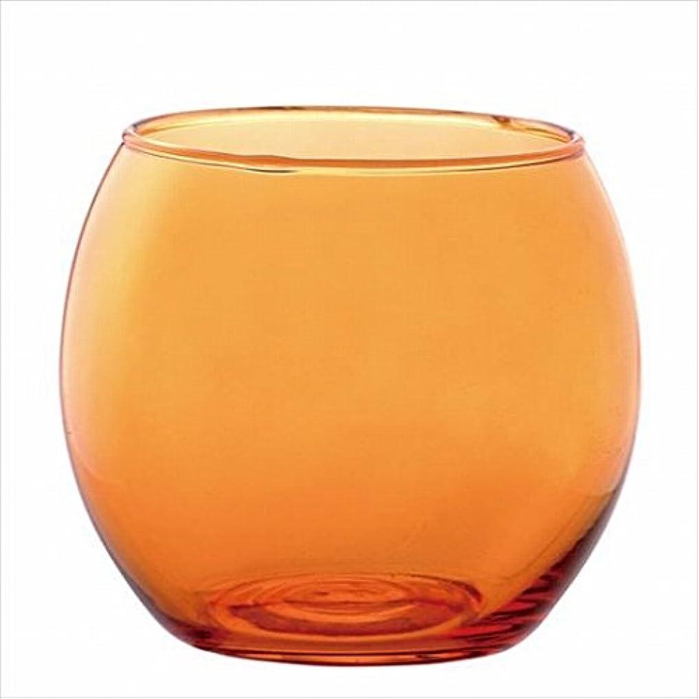 東ティモール刺激するコントラストカメヤマキャンドル( kameyama candle ) スフィアキャンドルホルダー 「 オレンジ 」