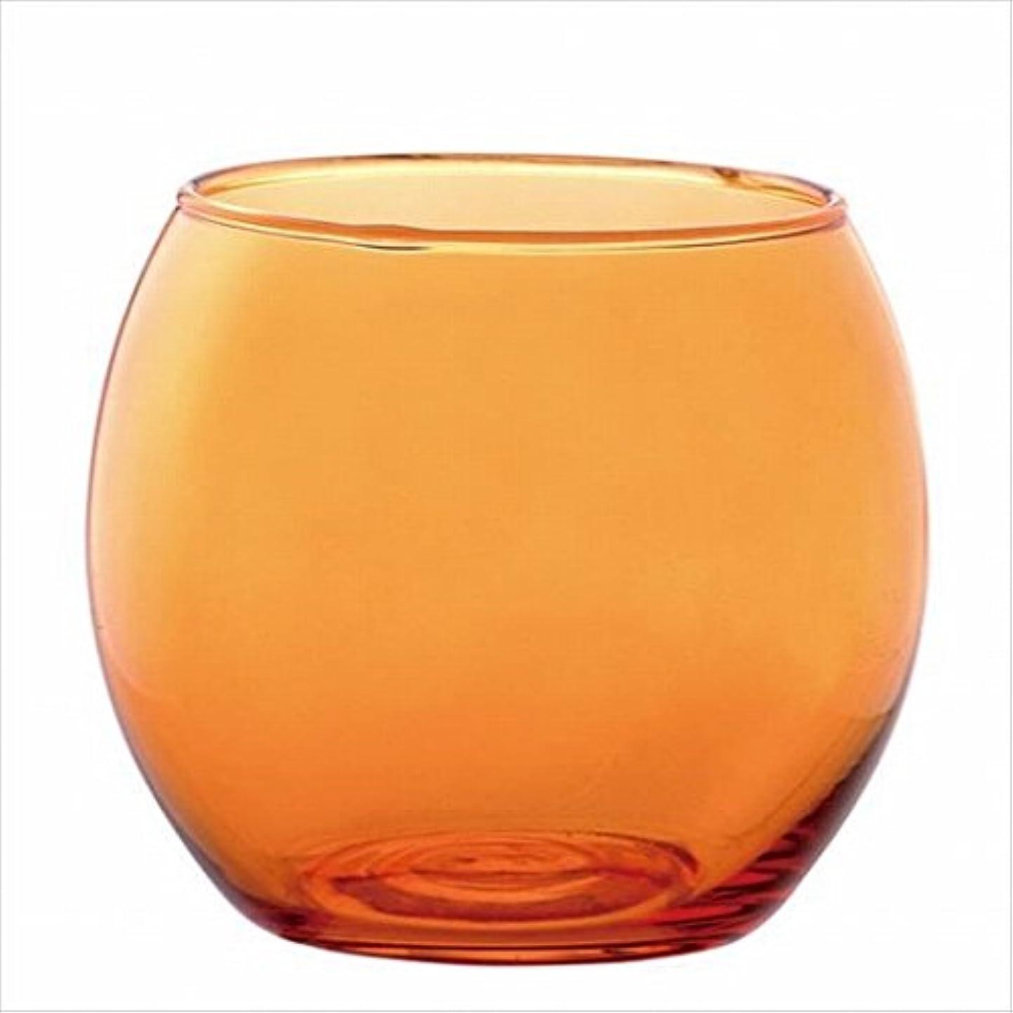 熱狂的な直面する贈り物カメヤマキャンドル( kameyama candle ) スフィアキャンドルホルダー 「 オレンジ 」