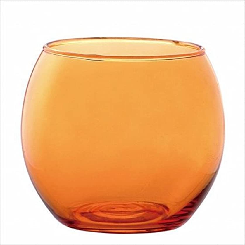 モーターお肉スリルカメヤマキャンドル( kameyama candle ) スフィアキャンドルホルダー 「 オレンジ 」