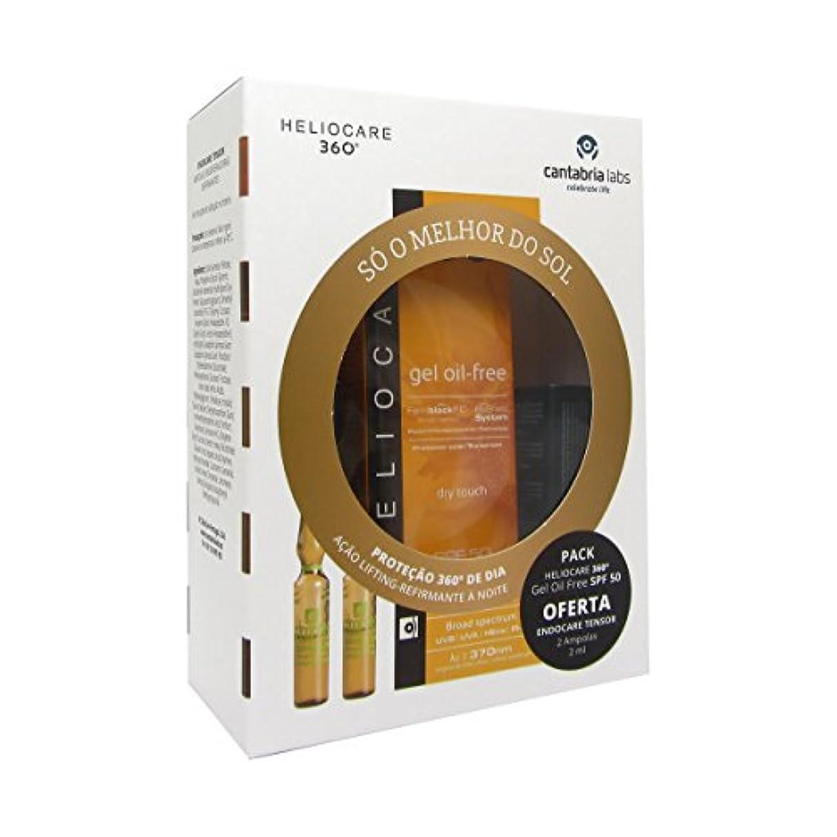 衝撃レンディション照らすHeliocare 360 Gel Oil Free Spf50 50ml + Endocare Tensor Ampoules2x2ml [並行輸入品]