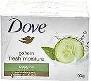 Dove Go Fresh Fresh Moisture Beauty Bar Soap, 100g (Pack of 3)