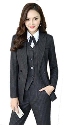 [해외]격정 女? 채용 정장 여성 스트라이프 스커트 정장 취업 활동 ol 정장 비즈니스 정장 바지 큰 사이즈 세트 정장 .../Furious female recruitment suit Women`s striped skirt suit hiring ol suits business suit pants large size set suit ...