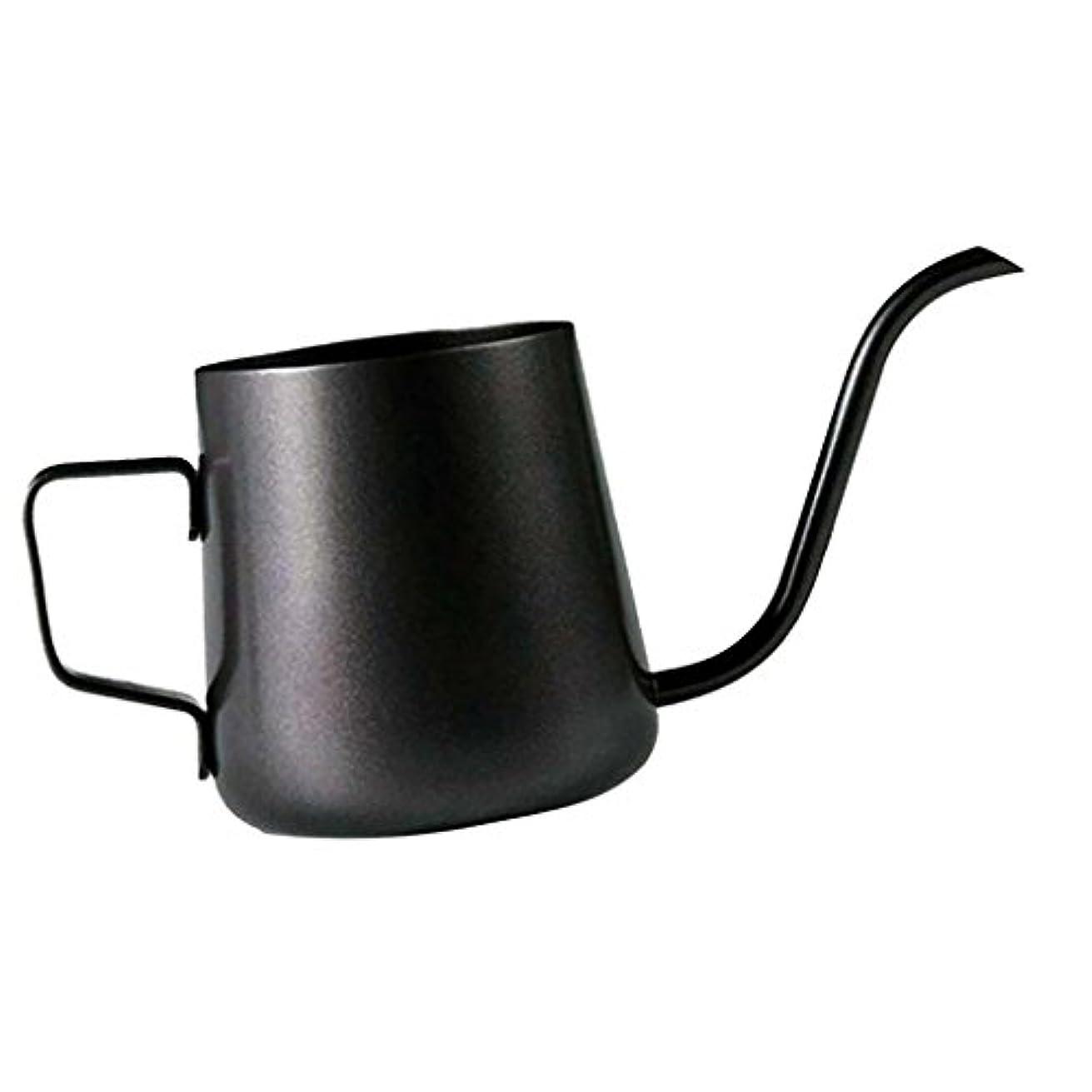 同行する一般的に手Homeland コーヒーポット お茶などにも対応 クッキング用品 ステンレス製 エスプレッソポット ケトル - ブラック, 250ミリリットル