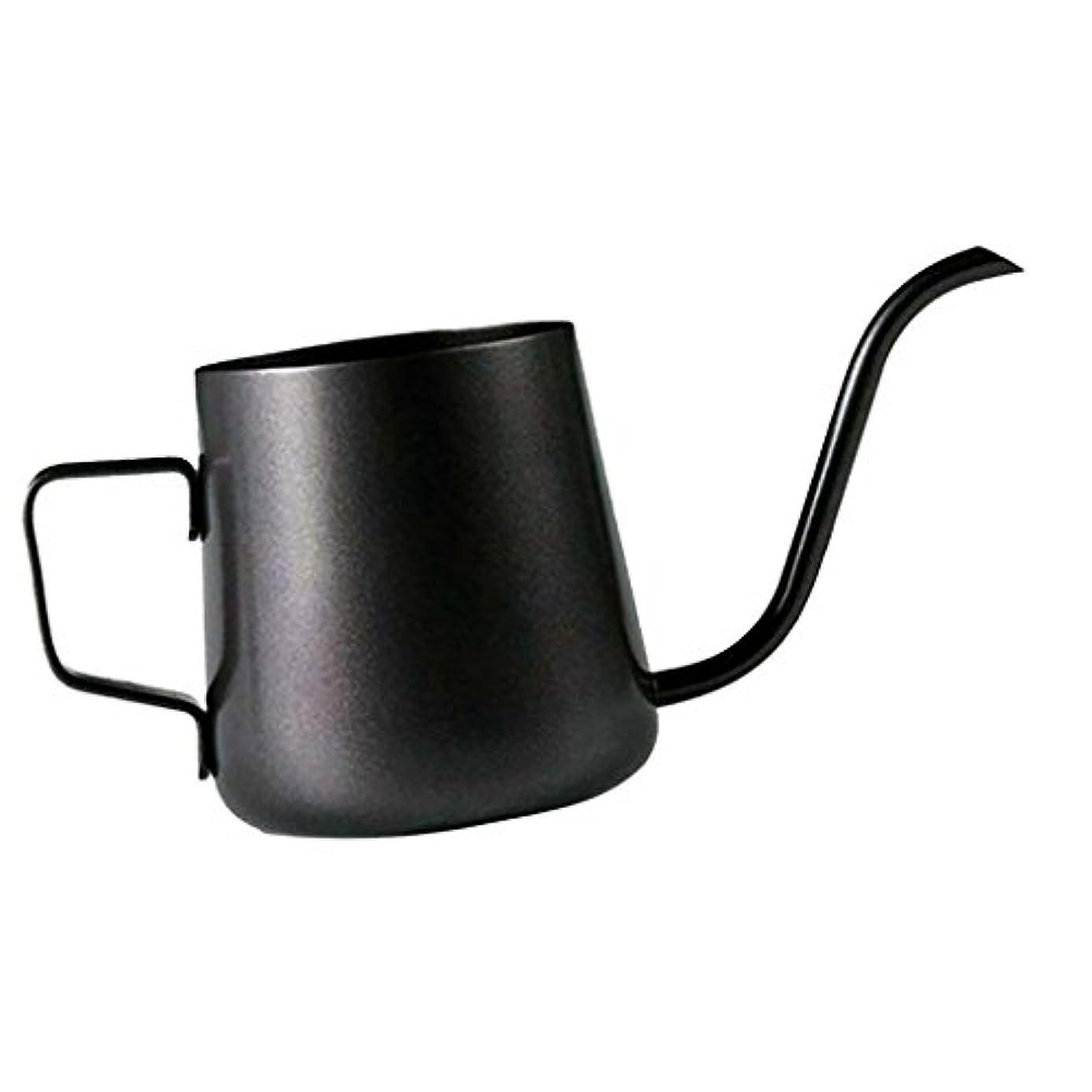 靄小道抵抗力があるHomeland コーヒーポット お茶などにも対応 クッキング用品 ステンレス製 エスプレッソポット ケトル - ブラック, 250ミリリットル