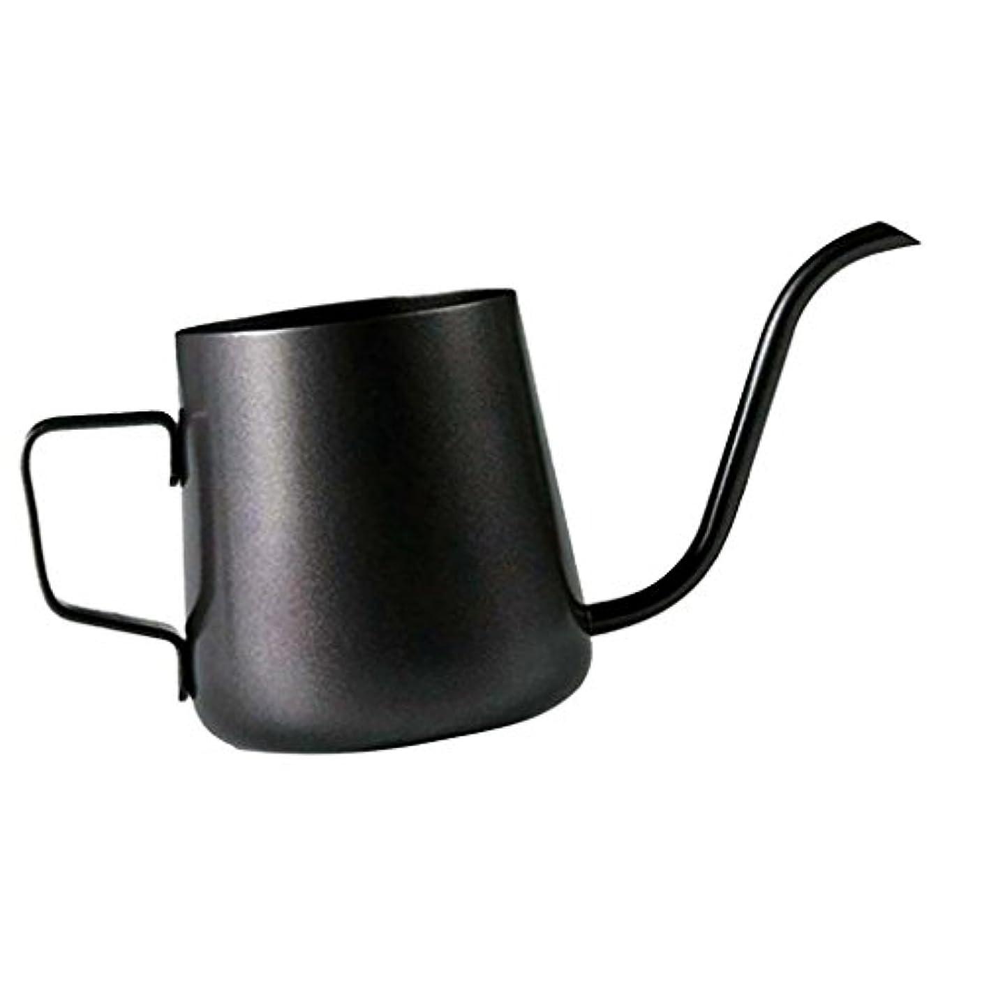 パントリー原稿プレーヤーHomeland コーヒーポット お茶などにも対応 クッキング用品 ステンレス製 エスプレッソポット ケトル - ブラック, 250ミリリットル