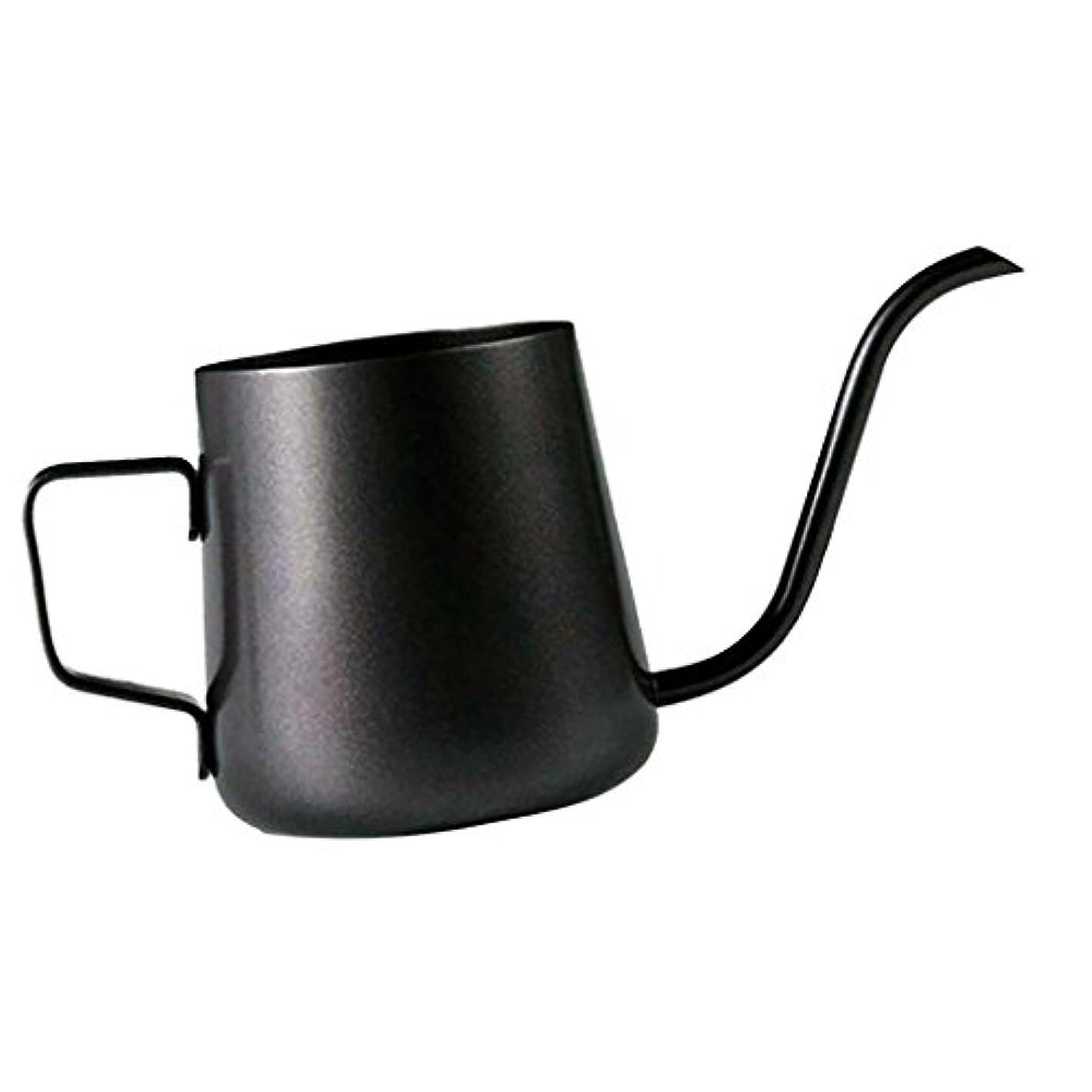 Homeland コーヒーポット お茶などにも対応 クッキング用品 ステンレス製 エスプレッソポット ケトル - ブラック, 250ミリリットル