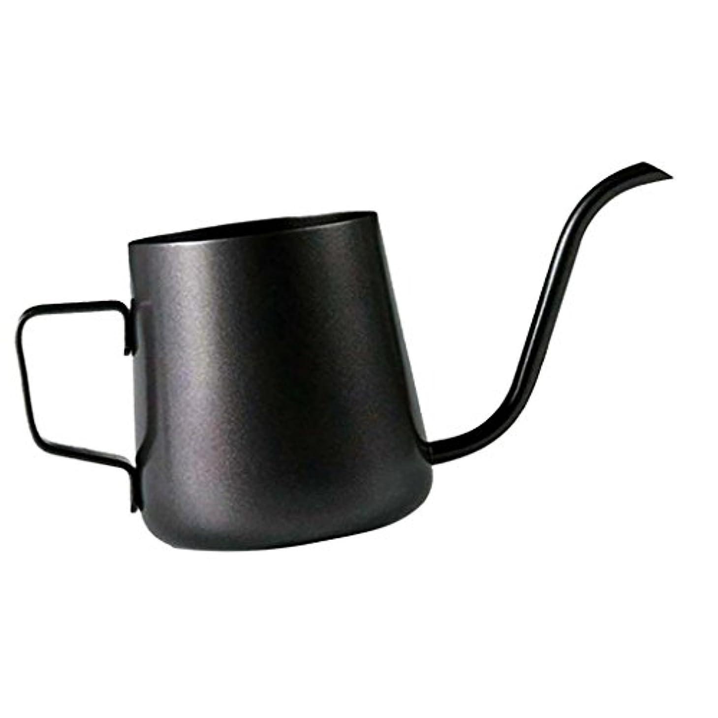 会話鳩フィードオンHomeland コーヒーポット お茶などにも対応 クッキング用品 ステンレス製 エスプレッソポット ケトル - ブラック, 250ミリリットル