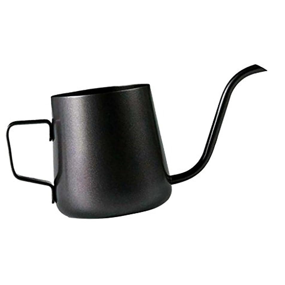 日没報告書ジェムHomeland コーヒーポット お茶などにも対応 クッキング用品 ステンレス製 エスプレッソポット ケトル - ブラック, 250ミリリットル