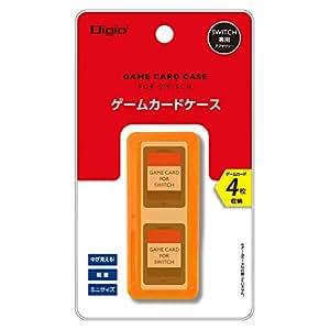Nintendo Switch (ニンテンドースイッチ) 用 カードケース 4枚収納 オレンジ Z1668