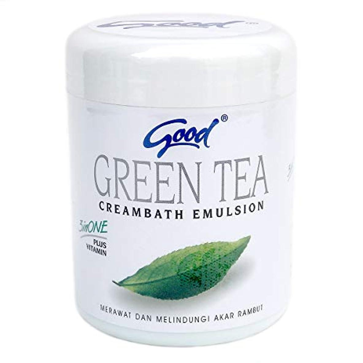 記憶給料モットーgood グッド インドネシアバリ島の伝統的なヘッドスパクリーム Creambath Emulsion クリームバス エマルション 250g GreenTea グリーンティー [海外直送品]