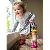 Nuby Snekz Comfortable Rubber Sole Sock Shoes for First Steps- Strawberry/Small 7-14 Months