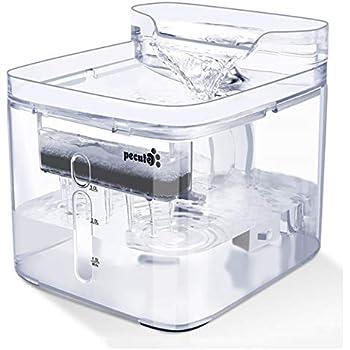 ペキュート[Pecute] 猫用給水器 自動給水器 水飲み器 フィルター付き 静音ポンプ 日本語取扱説明書 電源アダプター付き 透明 3L
