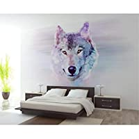 Ansyny カスタム写真の壁紙3D動物のオオカミの壁画の壁紙リビングルームの寝室のソファの背景装飾的な壁の3D壁紙-300X200Cm
