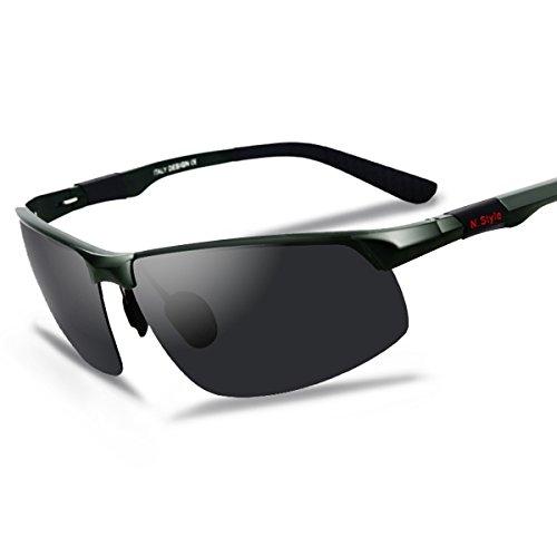 KICKER 偏光グラス 偏光レンズ サングラス 紫外線カットUV400 アルミニウム・マグネシウム 軽量で持ち運び 車/釣り/スポーツ/ドライブなど適用