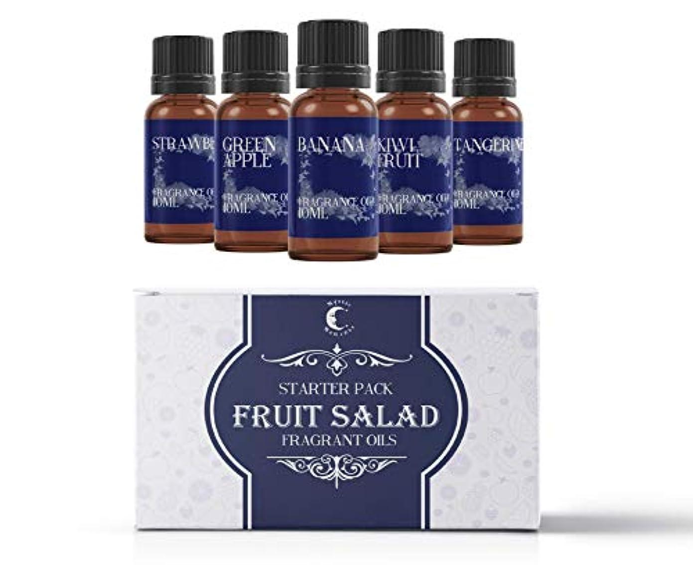 ビデオ共役ご意見Mystic Moments | Fragrant Oil Starter Pack - Fruit Salad - 5 x 10ml