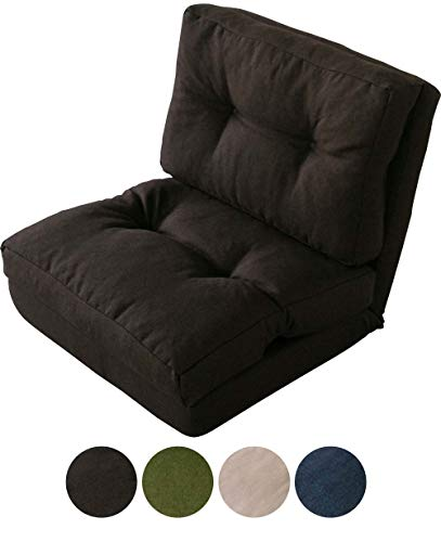 アイリスプラザ ソファ ベッド 座椅子 3WAY 折り畳み 1人掛け ブラウン 幅約60cm CG-4Aー60-FAB