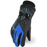 スノボー グローブ スキー 手袋 登山 手袋 防寒グローブ 防水 防寒 保温 通気性 サイズ選択可(青 )