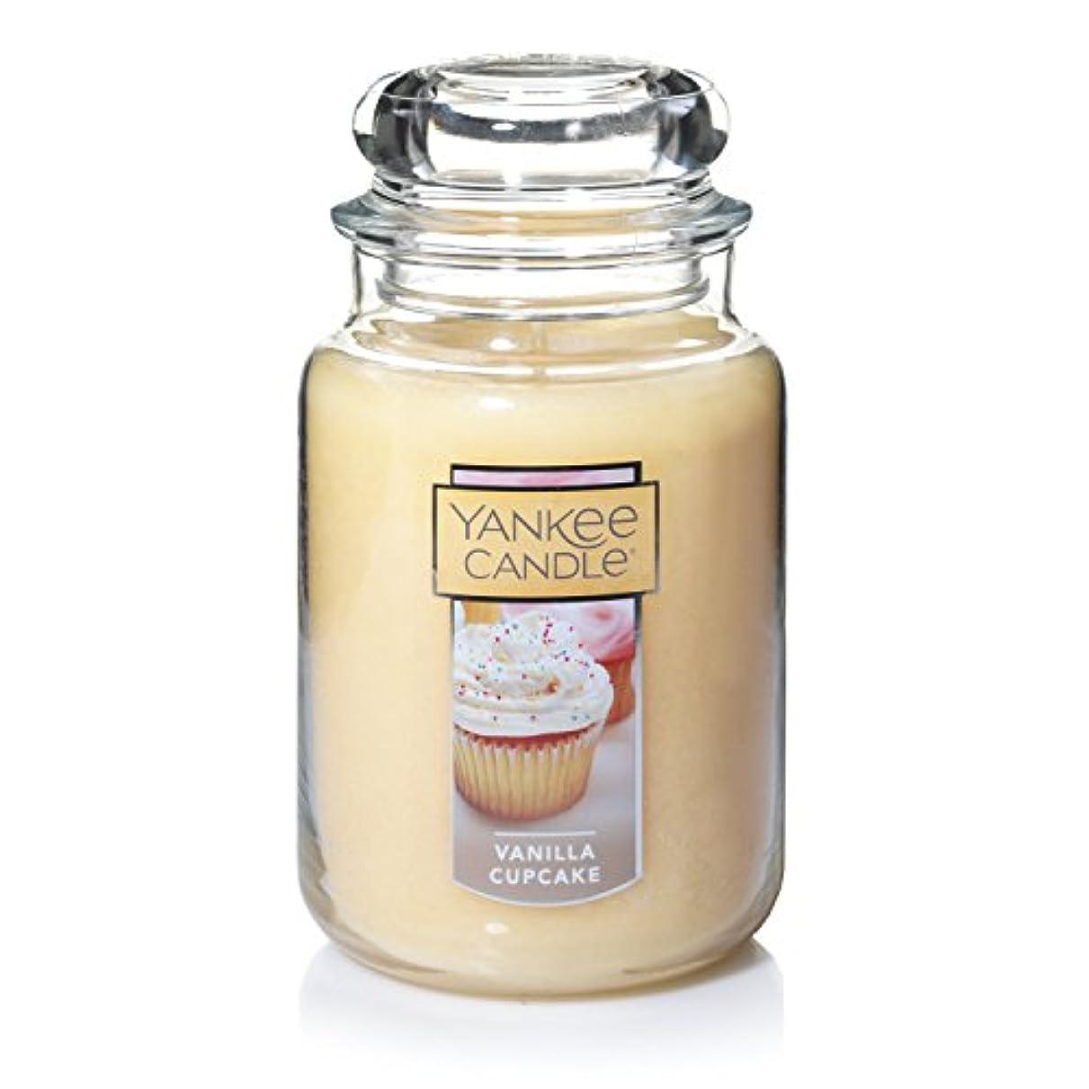 無視でも幾何学Yankee Candle Company Vanilla Cupcake Large Jar Candle by Yankee Candle