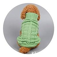 ワンちゃんのため ペット服 イミテーションカシミアペットのセーター犬の服ペット用品,グリーンモノクロKL-CW-45,XXL