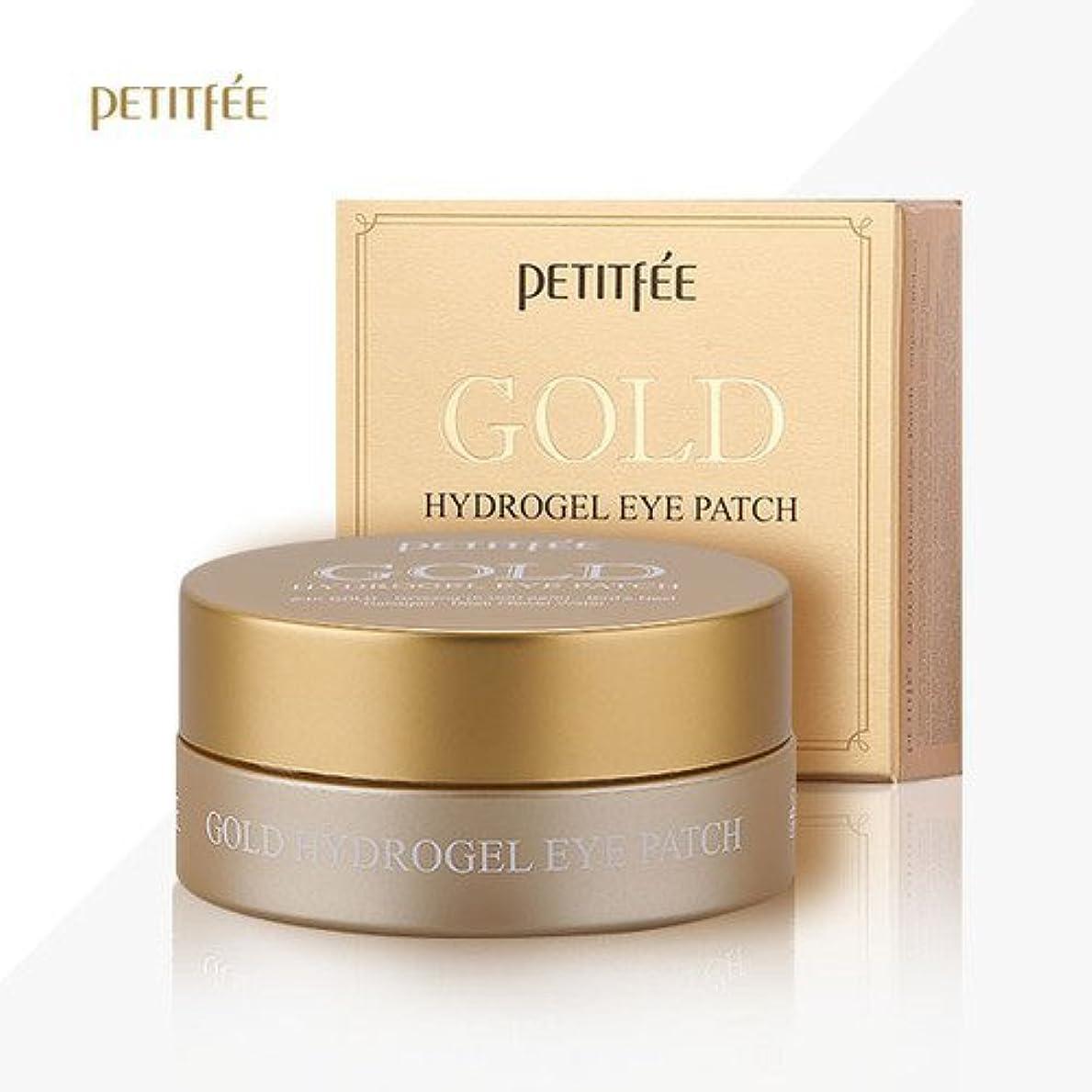 小人知恵わかりやすいPETITFEE(プチペ)ゴールドハイドロゲルアイパチ(60枚)/ Petitfee Gold Hydrogel Eye Patch (60Sheets) [並行輸入品]