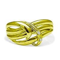 [ココカル]cococaru ダイヤモンド リング K18 イエローゴールド 指輪 20号 天然 ダイヤ 日本製