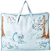 [QIFENGDIANZI]布団収納袋 衣類収納ケース 旅行バッグ 大容量 片づけ 引っ越しバッグ 運搬 防水防塵 湿気防止 カビ対策 水洗い 通気性抜群 ブルー 59*23*47CM