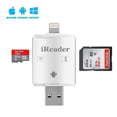 Mansa SD カードリーダー iphoneデータ保存 双方向でのデータコピー可能 USB iOS Android対応 容量不足 メモリーカードリーダライタ 高速 データ転送 カメラ用SDカード リーダー 写真 動画 音楽 直接転送可能 コンパクト iPhone/iPad/Android/コンピューター用 SD/TFカードリーダー