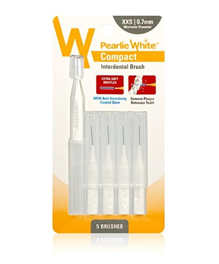弱める申し立てるミネラル歯間ブラシ パーリーホワイト 歯間ブラシ 5P (XXS(0.7mm))