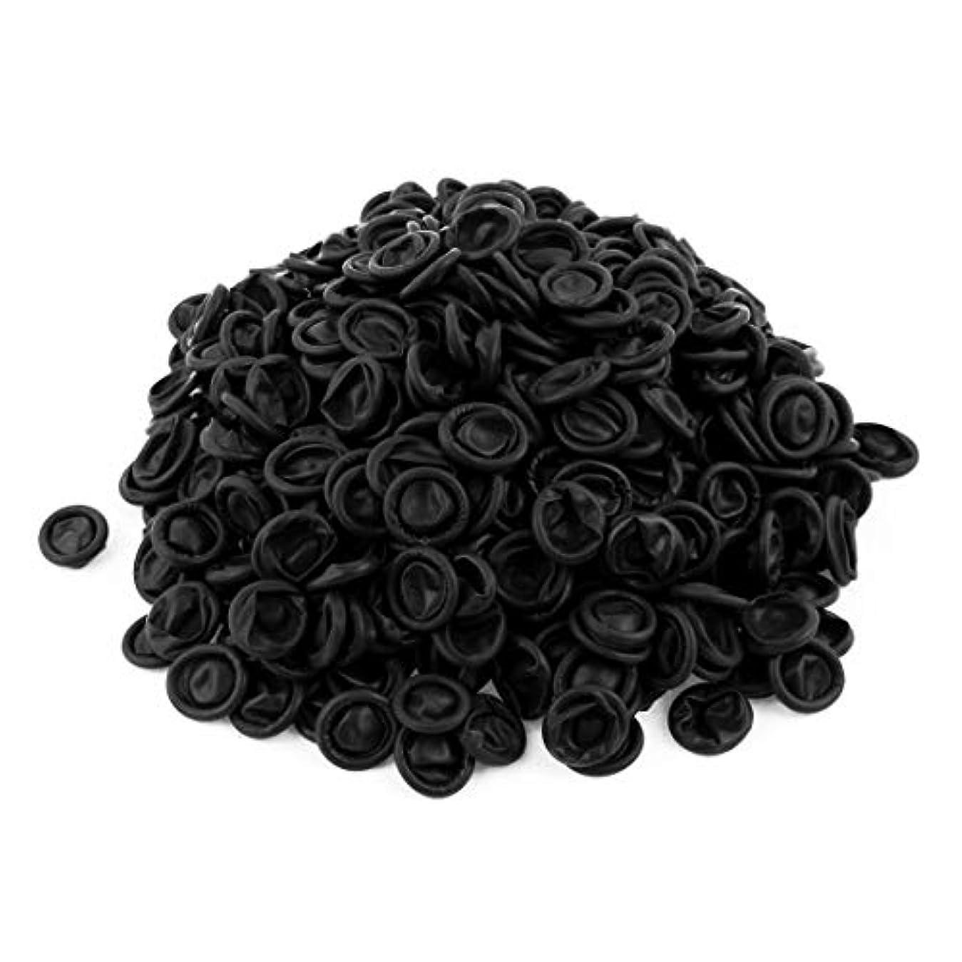 黒大きい散文500個入り 手袋 使い捨て手袋 指プロテクター ラバー材質 指サック